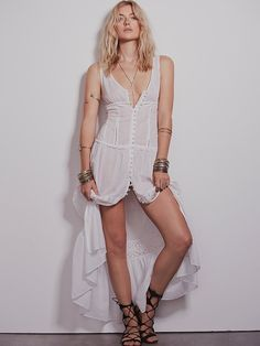 Free People Victoria Buttonfront Maxi, $128.00