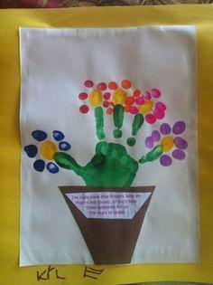 love this art project...fingerprint flowers