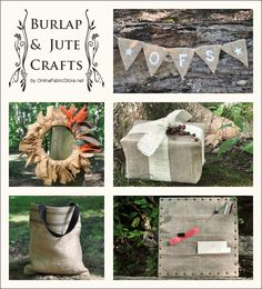 Simple craft and decorating ideas using burlap and jute!