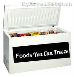 Food you can freeze