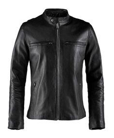 """Soul Revolver Cafe Racer Vintage Leather Jacket - Black - XS (34-36"""")"""