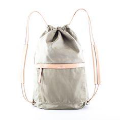 No.3 Cinch Bag Canvas Sage