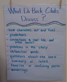 Book Club Group Anchor Charts 15 Ideas For 2019 Up Book, Book Club Books, Book Clubs, Big Books, Reading Club, Teaching Reading, Reading Response, Guided Reading, Reading Groups