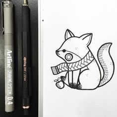Lonely fox - Hugo Tattooer