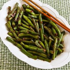 Kalyn's Kitchen: Recipe for Spicy Sichuan Style Green Beans (I prefer French cut green beans)
