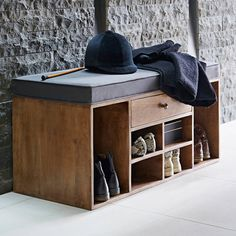 Shoe Storage Bench - W/Drawer