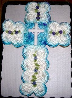 Cupcake Cross-- First Communion, Baptism, Confirmation, Wedding, etc. I need an airbrush first....