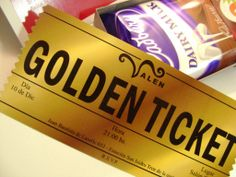 """Invitaciones """"Golden Ticket"""" - Willy Wonka — faire part invitaciones"""