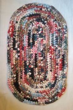 Oval Crocheted Rag Rug By Ragrugsbysheritaylor On Etsy Rugs Handmade