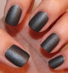China Glaze's Stone Cold from their Hunger Games collection. I love this matte look.