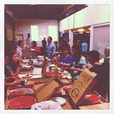 """""""happy birthday, @joefernandez! #pizzaparty"""" -- via @claytonsu"""