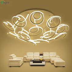 Nordic Floral Aluminum Led Ceiling Chandeliers Lustre Acrylic Living Room Dimmable Led Chandelier Lighting Led Chandelier Lights dinning room décor *** AliExpress Affiliate's Pin.  Clicking on the VISIT button will lead you to find similar product on AliExpress website