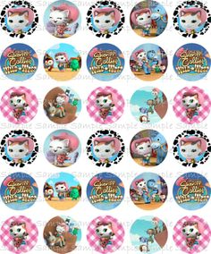 SHERIFF CALLIE 30 precut 1 circle Images for Bottle by GiuliGiuli, $3.00