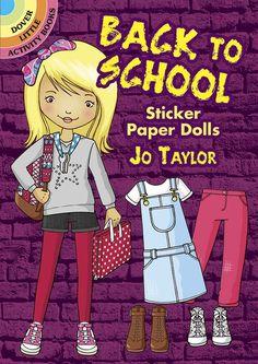 Back to School Sticker Paper Dolls