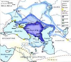 Maps of the Khazar Kingdom from 300 c.e. to 1000 c.e.