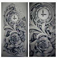 tatuagem ampulheta relógio de bolso - Pesquisa Google