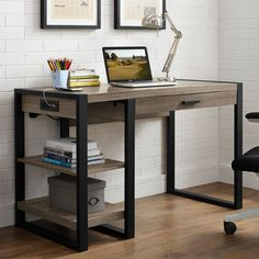 Walker Edison Urban Blend Computer Desk - Bring reclaimed style and high functionality home with the Walker Edison Urban Blend Computer Desk . This computer desk is handsome enough to have in...