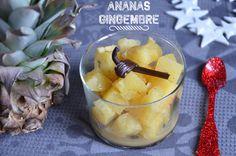 Compote d'ananas gingembre et vanille, un dessert très frais et légèrement épicé, savoureux et gourmand, qui sera parfait servi après un repas de fêtes.