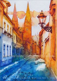 The oldest city street by AuroraWienhold on DeviantArt