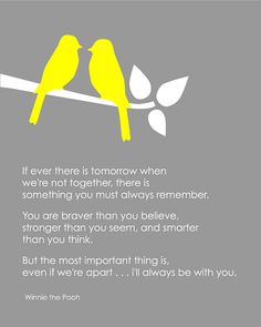 Winnie the Pooh - You are braver than you believe . . .