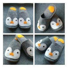 Felt Diy, Handmade Felt, Felt Crafts, Velvet Slippers, Baby Slippers, Bedroom Slippers, Diy Baby Socks, Sewing Crafts, Sewing Projects