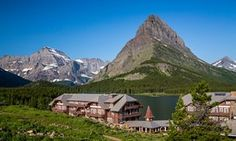 The Many Glacier Hotel on Swiftcurrent Lake.