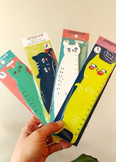 A kitty cat ruler that gives your assignments the side-eye.