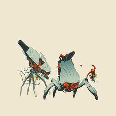 Death To Bugs! Unused concepts 2014 By Calum Alexander Watt Robot Concept Art, Robot Art, Alternative Comics, Spaceship Design, Alien Art, Futuristic Art, Character Design Animation, Tecno, Sci Fi Art