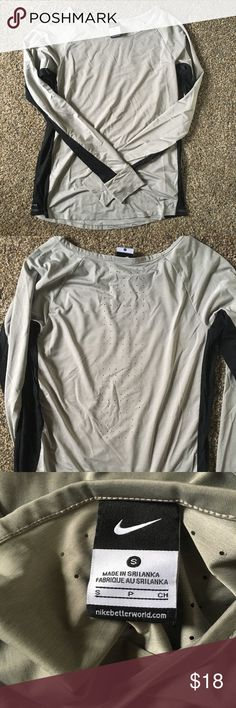 Nike Longsleeve Athletic Shirt Worn very few times and in great condition! Breathable back and flowy material. Very soft and comfortable - great for running, exercising, or lounging around! Nike Tops Tees - Long Sleeve