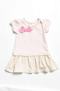 Cute Bow Stripe Dress.  Beautiful Soft fabric Cotton & Elastane  Recommendation Match up with a little pair of Beautiful Soles Leather shoes MJs Snow White