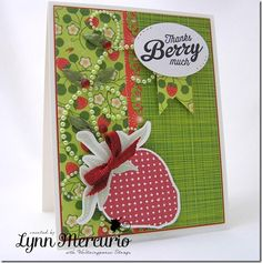 A Berry heartfelt thank-you card for a special friend.