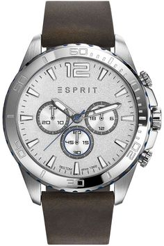 Esprit For Men analog ,Casual Watch Casual Watches, Watches For Men, Latest Watches, Of Brand, Casio, Leather Case, Omega Watch, Latest Fashion, Michael Kors