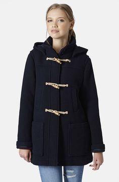 Topshop Hooded Duffle Coat