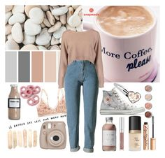 """""""Just another teenage dreamer"""" by indie-dreamer ❤ liked on Polyvore featuring Free People, Boohoo, Converse, French Girl, Too Faced Cosmetics, Charlotte Tilbury, Terre Mère, Nicolas Vahé and Fujifilm"""
