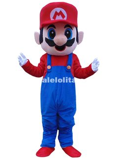 Adult Size Super Mario Mascot Costume Fluffy Plush Mascot Costume Mario Bros Christmas Cartoon Costume