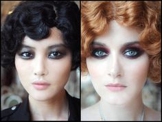 Le make-up parfait ! Vamp Makeup, Burlesque Makeup, Flapper Makeup, Glamour Makeup, Chanel Makeup, Clown Makeup, Halloween Face Makeup, 1920s Makeup Gatsby, Great Gatsby Makeup
