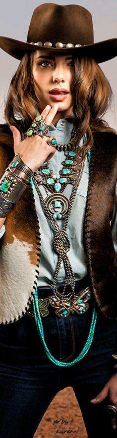 Western Wear: Boɧo⚜️ננ Diคmond Cowgirl ⚜ננ Love it! Sexy Cowgirl, Cowgirl Chic, Cowgirl Style, Cowgirl Fashion, Vintage Cowgirl, Western Girl, Western Chic, Western Wear, Western Theme