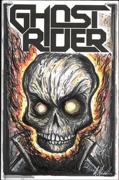 Ghost Rider 1 Sketch Cover by MarshStore on Etsy