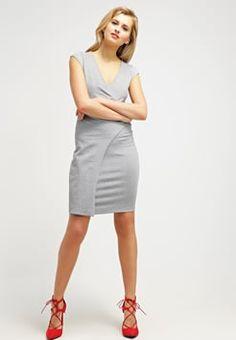 French Connection - Sukienka z dżerseju - grey melange