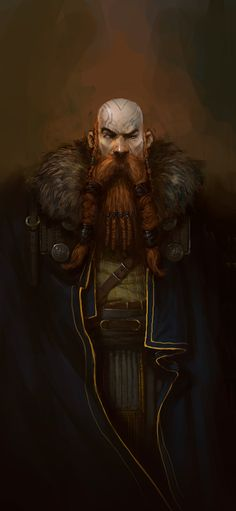 Fantasy Art Bald Beard Warrior