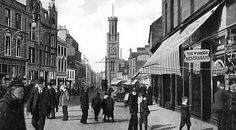 Old photograph of the High Street, Ayr, Scotland