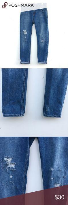 NWOT Zara Boyfriend Jeans Brand new without tags and unworn Zara boyfriend jeans. Sturdy, thick denim with distressing. Oversized, I would say is bigger than a usual Zara size 2. Zara Jeans Boyfriend
