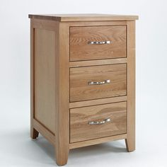 Sherwood Solid Oak Cabinet (Storage 2 Door, 3 Drawers) - 3 Drawers - Chest Of Drawers - Ametis - Space & Shape - 1
