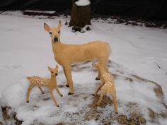 Deer  in 1:12 scale by CDHM Artisan Lucy Maloney of Designer Dog Miniatures, www.cdhm.org/user/doglady