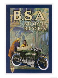 BSA Motorcycle Poster