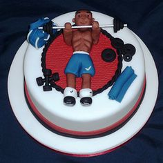 I'm sexy and I know it... Fitness birthday cake by Eva Rose Cakes