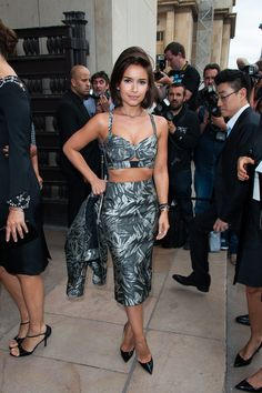 Miroslava Duma - PFW: Arrivals at the Armani Show