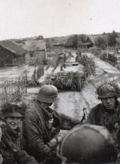 Sd.Kfz. 251 half-track german armored fighting vehicle transporting panzergrenadiers. Eastern front 1944.