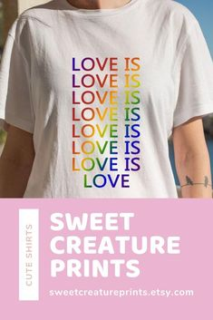 Show off your pride with this lgbt shirt! Click through to view more styles. Vegan Fashion, Ethical Fashion, Gay Pride Shirts, Pride Outfit, Feminist Shirt, Things To Buy, Lgbt, Best Gifts, Small Businesses