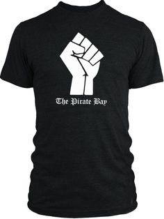 Big Texas The Pirate Bay Fist (White) Vintage Tri-Blend T-Shirt